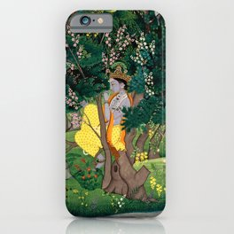 Krishna Fluting to the Milkmaids, 1780 iPhone Case