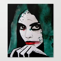 emerald Canvas Prints featuring Emerald by LisaMMurphyArt