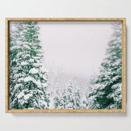 Snow Storm Colorado Serving Tray