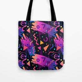 Retro vintage 80s or 90s fashion style abstract  pattern  Tote Bag