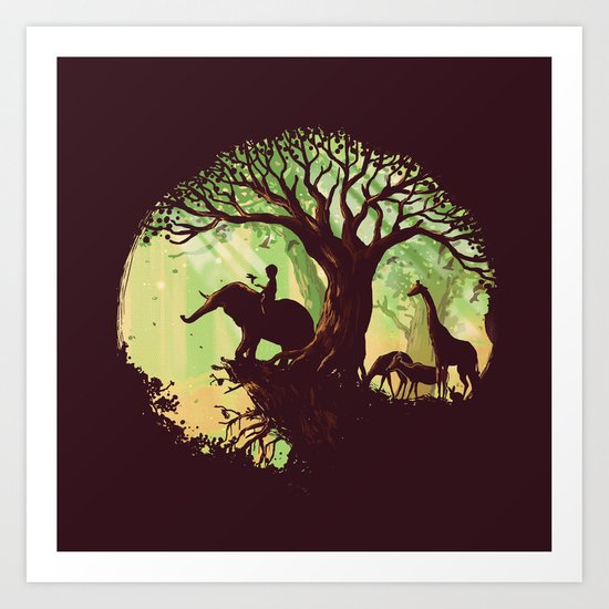 The jungle says hello Art Print