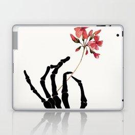 Skeleton Hand with Flower Laptop & iPad Skin
