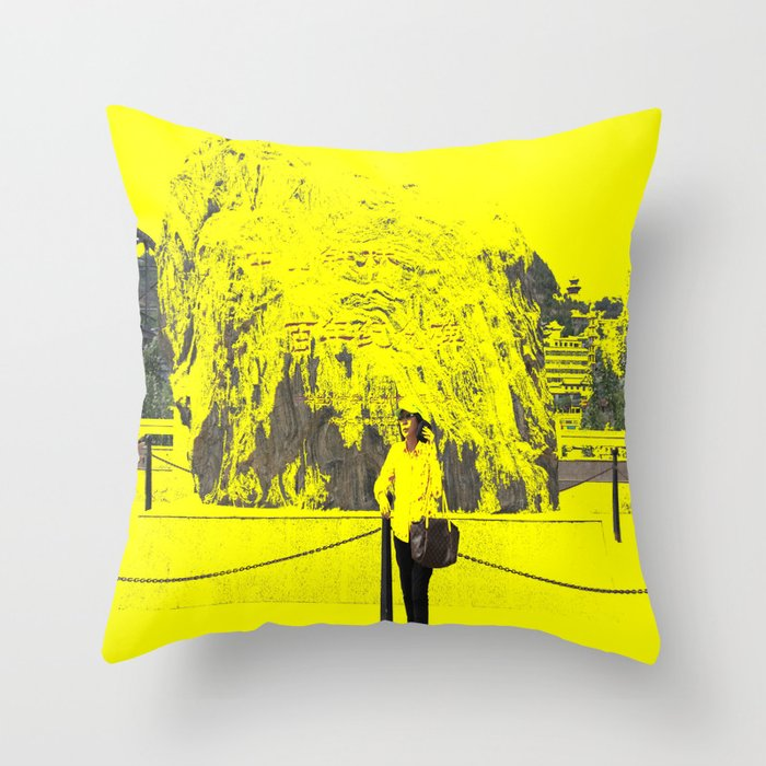 Hot Weather Throw Pillow