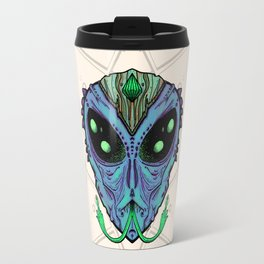 Blue Alien Travel Mug