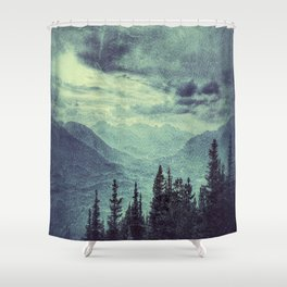 Mountain Highs and Valley Lows Shower Curtain