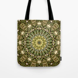 Geometric Forest Mandala Tote Bag