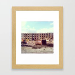 Build Framed Art Print