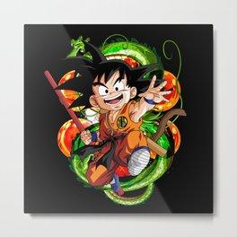 Kid Goku Metal Print