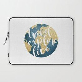 Travel, Explore, Live Laptop Sleeve