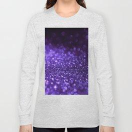 Pantone Color 2018 Ultra Violet Purple Glitter Long Sleeve T-shirt