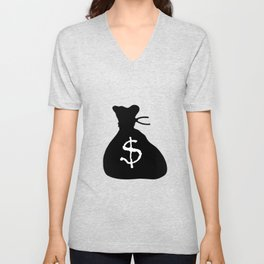 Bag Of Cash Isolated Unisex V-Neck