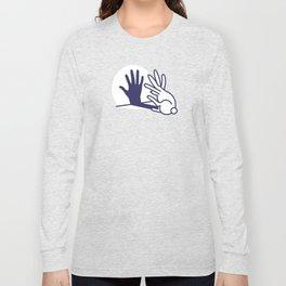 hand shadow rabbit Long Sleeve T-shirt