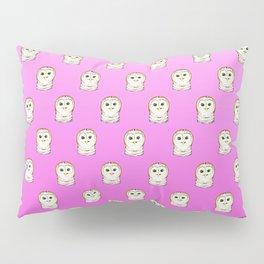 Cute Owls Pink Pattern Pillow Sham