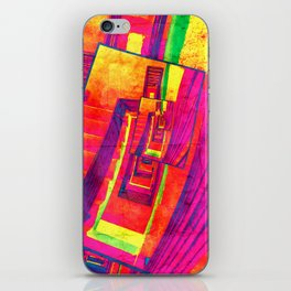 Pop Art Stairwell Abstract iPhone Skin