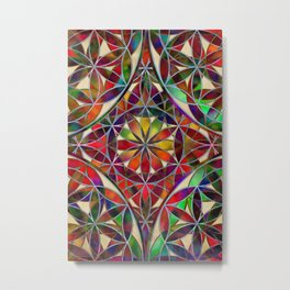 Flower of Life variation Metal Print