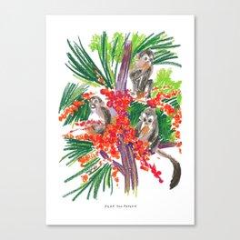 Tree And Monkeys Canvas Print