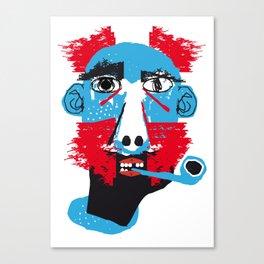Hombre con pipa Canvas Print