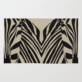 Art print: Zebra Popart art (beige) Rug
