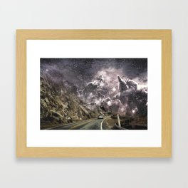 Space gazing Highway One Framed Art Print