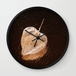 Dried box from the fruit of physalis Wall Clock