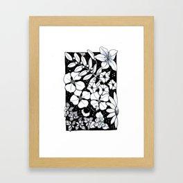 Floral Pen and Ink Sampler Framed Art Print
