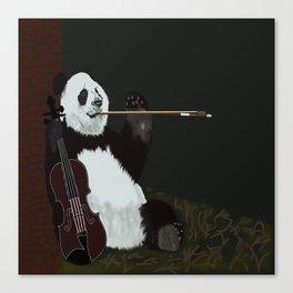 panda violinist Canvas Print