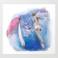 angels Art Prints featuring angels by SOYKO STUDIO