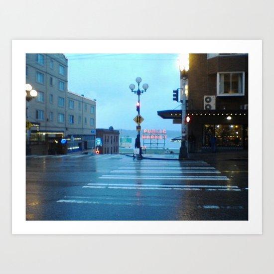 Seattle. Art Print
