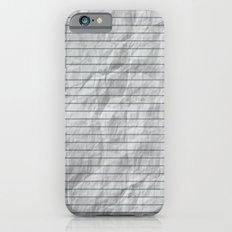 Crumpled Lined Paper iPhone 6s Slim Case