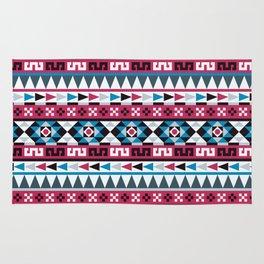 Aztec Geometric Pattern Rug
