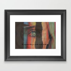 The Important Thing is Not the Camera but the EYE Framed Art Print
