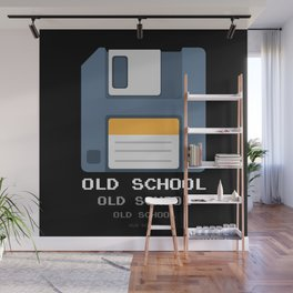 Old School Computer Floppy Diskette Wall Mural