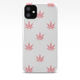 Peachy Cannabis Pot Leaf Pattern iPhone Case