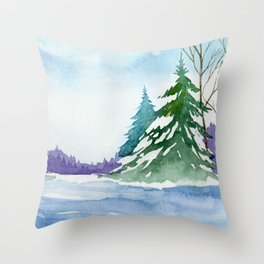 Winter scenery #10 Throw Pillow