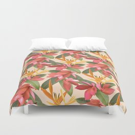Mixed Paradise Tropicals in Vintage Duvet Cover