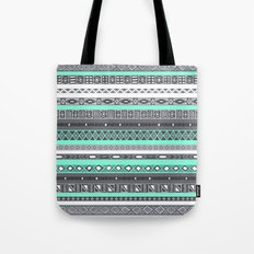 Tiffany Turquoise Aztec Print Tote Bag