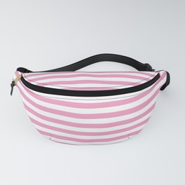 Small Horizontal Light Pink Stripes Fanny Pack