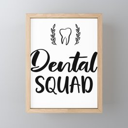 Dental squad for dental assistant and dentist Framed Mini Art Print