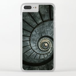 Dark spiral staircase Clear iPhone Case