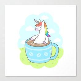 Unicorn Coffee Canvas Print