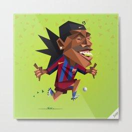 Minirobguns Ronaldinho Barca Metal Print