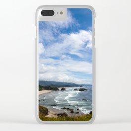 Cannon Beach Oregon, Goonies Location Clear iPhone Case