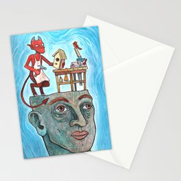 An Idle Mind Is The Devil's Workshop Stationery Cards
