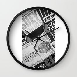 Urban Print Wall Clock