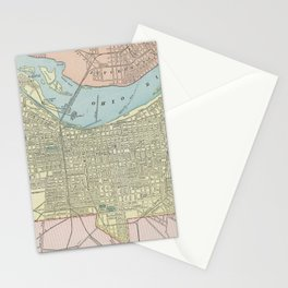 Vintage Map of Louisville KY (1901) Stationery Cards