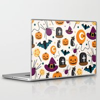 baloon Laptop & iPad Skins featuring HALLOWEEN3 by Ceren Aksu Dikenci