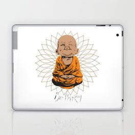 Be Happy Little Buddha on Mandala Laptop & iPad Skin