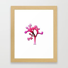 Joshua Tree Strawberry by CREYES Framed Art Print