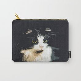 Cute Black and White Tuxedo Cat Carry-All Pouch