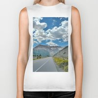 yosemite Biker Tanks featuring Yosemite Entrance by Adam Latham Photography